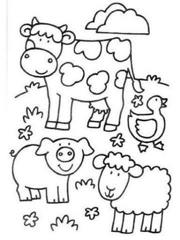 dibujos de animales de la selva para niños