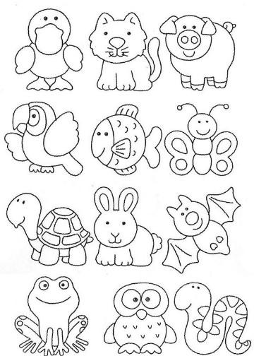 dibujos de animales de la selva tropical