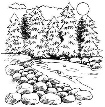 fotos de paisajes para dibujar a lapiz