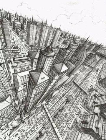 imagenes de ciudades animadas para colorear