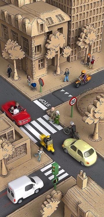 imagenes de ciudades animadas para dibujar