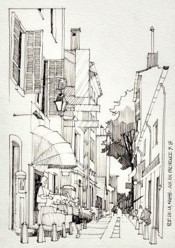 imagenes de ciudades para dibujar a lapiz