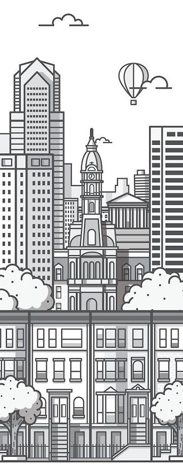 imagenes de ciudades para dibujar y colorear