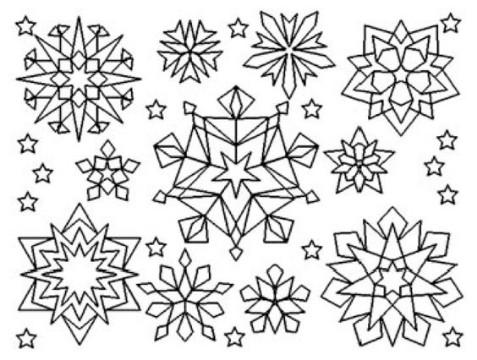 imagenes de invierno para colorear faciles