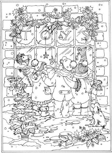 imagenes de invierno para colorear infantiles