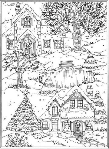imagenes de invierno para colorear para niños