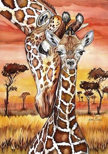 imagenes de jirafas bebes animadas