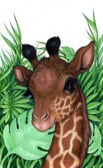 imagenes de jirafas bebes para dibujar