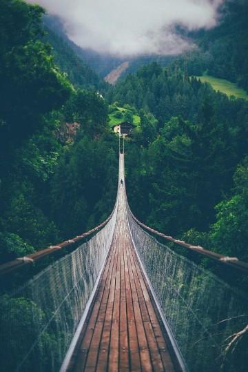 imagenes de puentes de madera colgantes