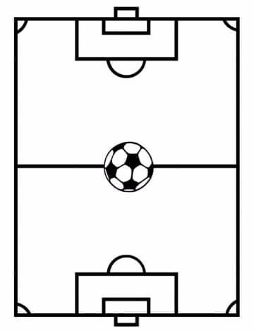 imagenes de un campo de futbol para colorear