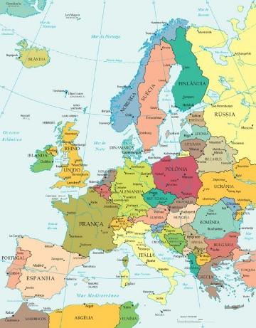 imagenes del continente europeo mapa