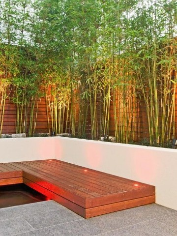 Jardines con bambu en decoracion de paredes para exterior for Decoracion pared exterior