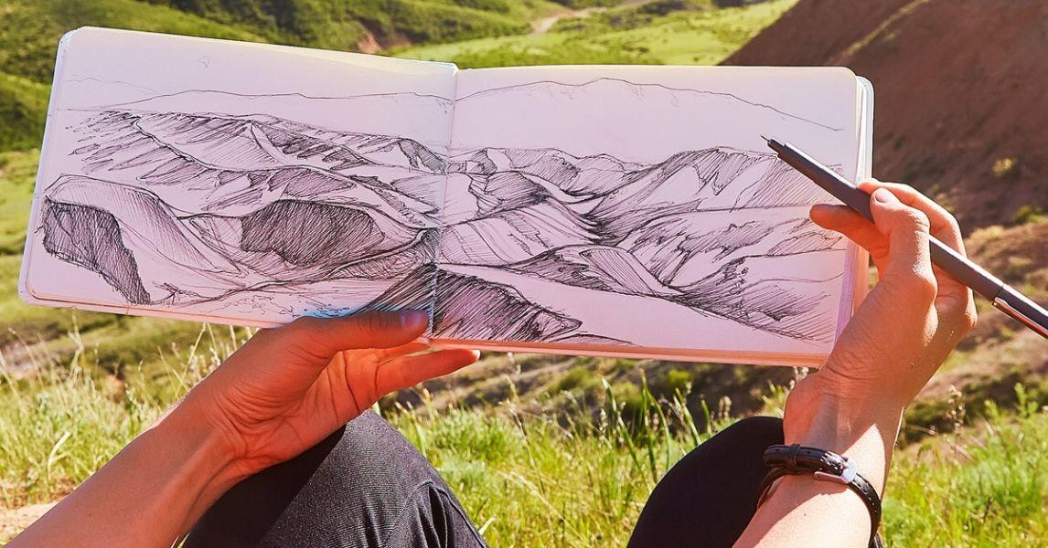 fotos para dibujar de paisajes a lapiz