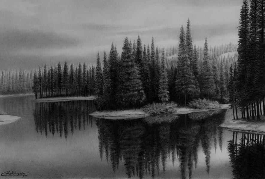 fotos para dibujar de paisajes con lapiz