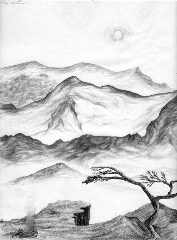imagenes de paisajes naturales para dibujar excelentes obras a carbon y lapiz
