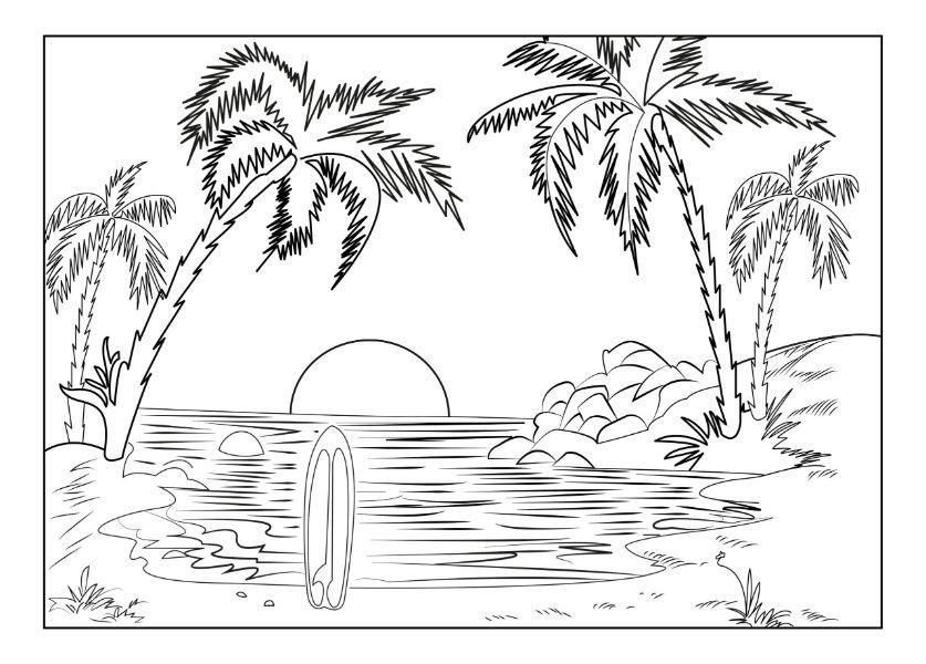 imagenes de paisajes naturales para dibujar una playa