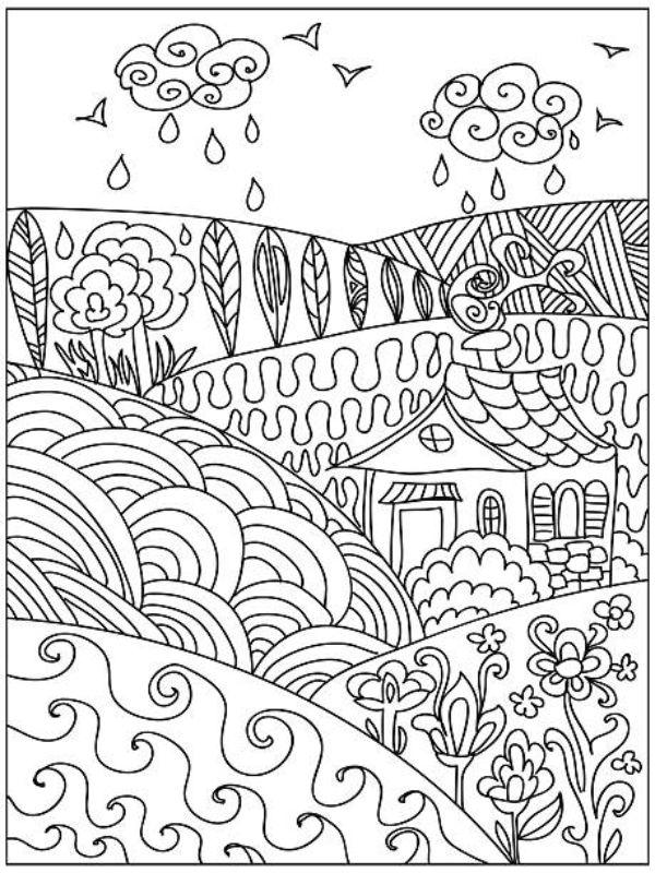 imagenes de paisajes para dibujar a color segmentos coloridos