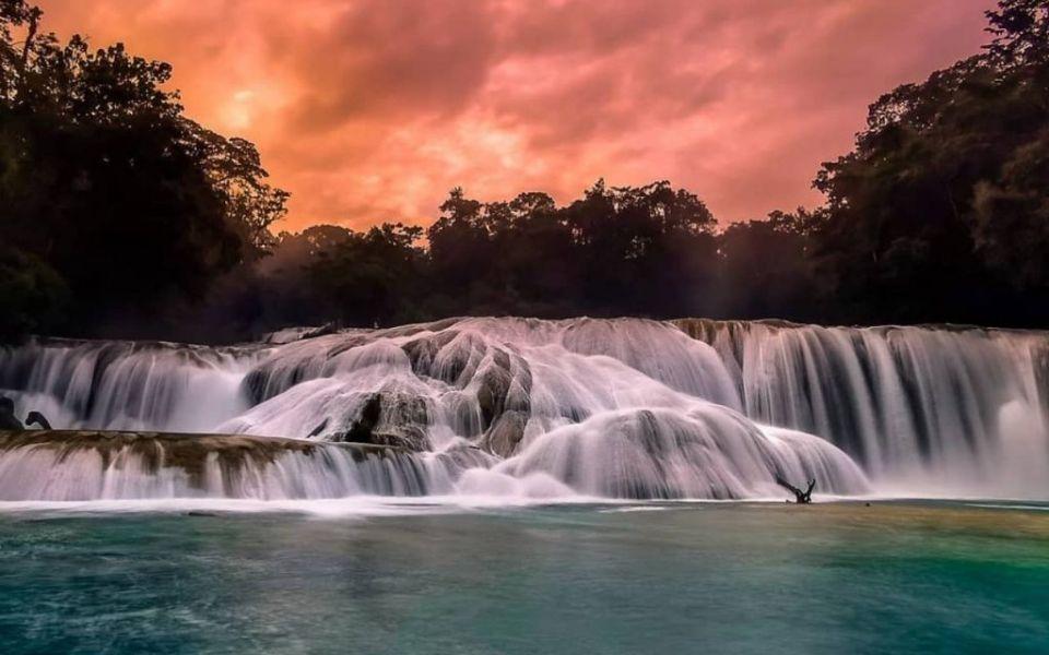las areas naturales protegidas cascadas agua azul