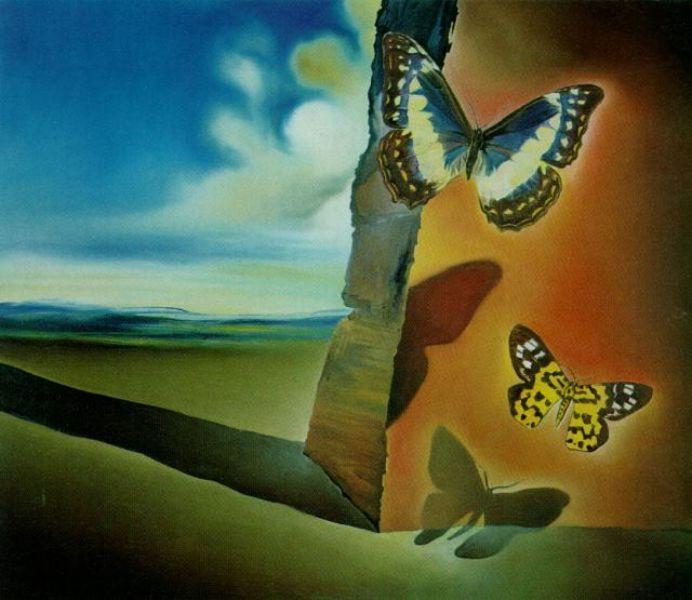 paisajes de flores y mariposas pinturas reconocidas