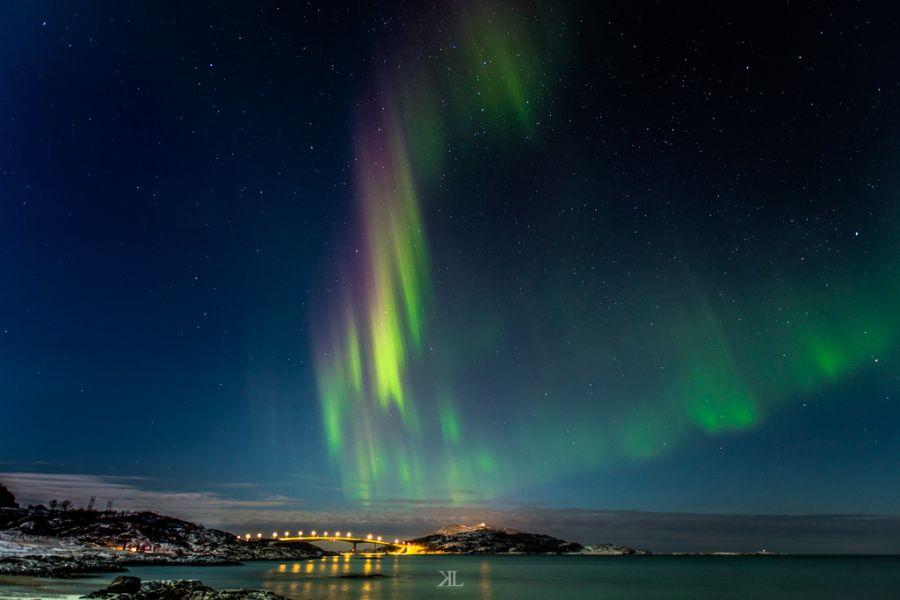 paisajes naturales de noche aurora polar