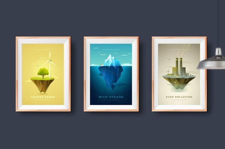 carteles sobre el medio ambiente arte colorido