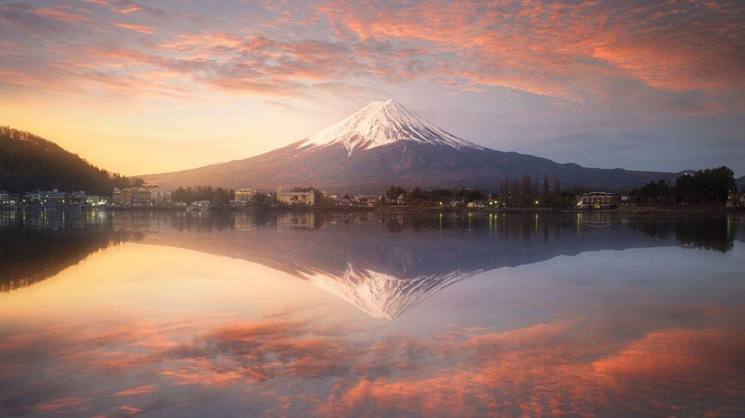 montañas hermosas del mundo fuji