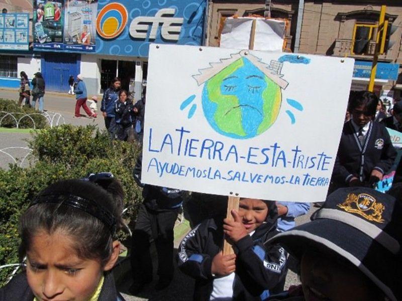 pancartas sobre el medio ambiente hechas por niños